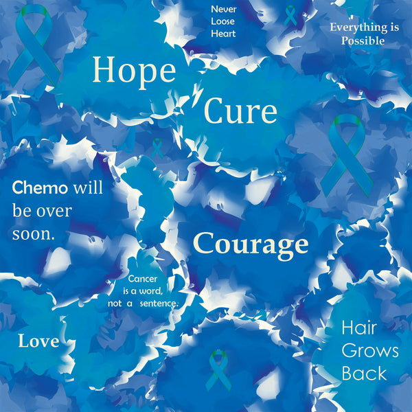 Cancer Fabric, Colon Cancer Fabric, Inspirational Words, Cotton or Fleece 7117 - Beautiful Quilt