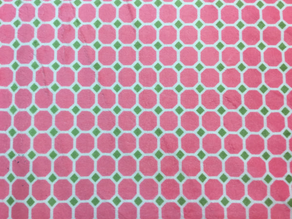 Cuddle Fabric, Shannon, Minky Printed, Geometric Pink 7132