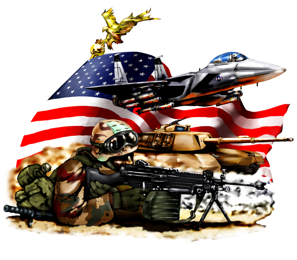Military Fabric, Army Fabric, Trooper, Tank, Flag and Plane 1831