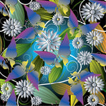 Flower Fabric, Butterfly Fabric, Cotton or Fleece 1592 - Beautiful Quilt