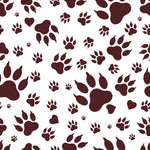 Bear Fabric, Brown Bear Paw Prints, Cotton or Fleece 3306