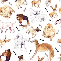 Dog Fabric, Multiple Breeds, 100% Cotton 1472 - Beautiful Quilt