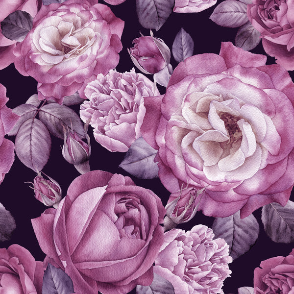 Flower Fabric, Maroon Rose Fabric 1563