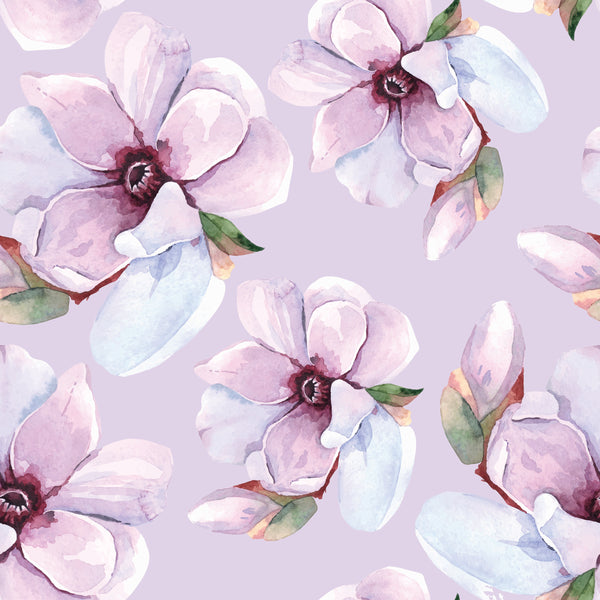 Flower Fabric, Watercolor Flower Fabric in light mauve, 1569 - Beautiful Quilt