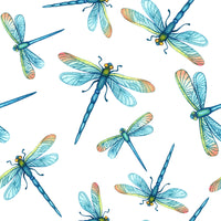 Bug Fabric, Dragonfly Fabric, Turquoise Dragonflies, cotton or fleece, 2037 - Beautiful Quilt