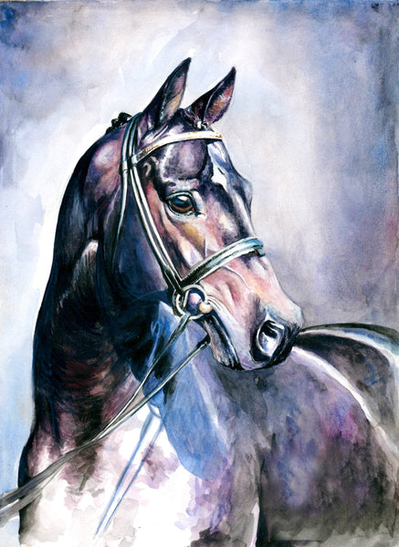Animal Fabric, Watercolor Horse Fabric 300 - Beautiful Quilt