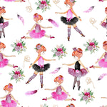 Children's Fabric, Ballet Fabric, Cute Little Girls Dancing, Cotton or Fleece 2199 - Beautiful Quilt