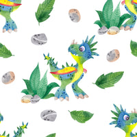 Dinosaur Fabric, Spiky Dinos, Cotton or Fleece 2073 - Beautiful Quilt