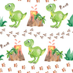 Dinosaur Fabric, Children's Fabric, Green Dinos, Cotton or Fleece 2070 - Beautiful Quilt