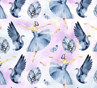 Ballet Fabric, Swan Lake Ballet Fabric, Cotton or Fleece, 2204 - Beautiful Quilt