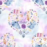Ballet Fabric, Ballet Dancer Fabric in a Heart, Cotton or Fleece, 2202 - Beautiful Quilt