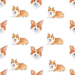 Dog Fabric, Corgi Fabric Illustration, Cotton or Fleece 2117 - Beautiful Quilt