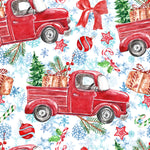 Christmas Fabric, Christmas Car Fabric, Cotton or Fleece 3330 - Beautiful Quilt