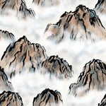 Asian Fabric, Asian Mountain Fabric, Cotton and Fleece 3824 - Beautiful Quilt