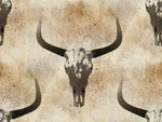 Cow Fabric, Texas Long-Horn Cows, Cotton or Fleece, 3860 - Beautiful Quilt