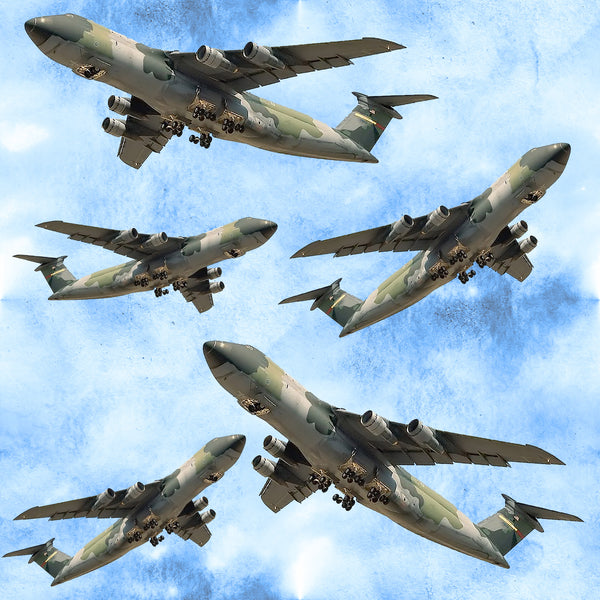 Military Fabric, Air Force Fabric, C-5 Transport Plane Fabric 2248 - Beautiful Quilt