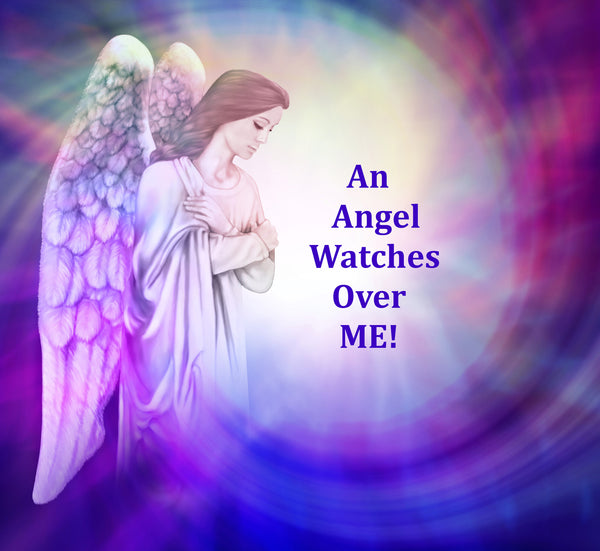 Religious Fabric, Custom Print Panel, An Angel Watches Over Me 5898 - Beautiful Quilt