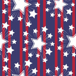 Patriotic Fabric, Custom Print Fabric, Red and Blue with Stars 7122