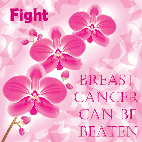 Cancer Fabric, Breast Cancer Fabric, Breast Cancer Can be Beaten 1467 - Beautiful Quilt