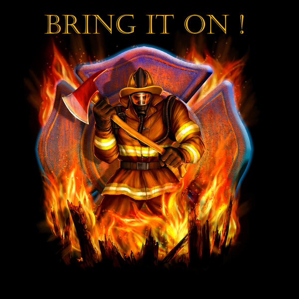 Firefighter Fabric, Bring it on Fabric Panel 1605