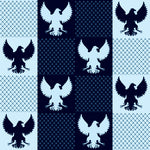 Patriotic Fabric,  Eagles Navy 7147
