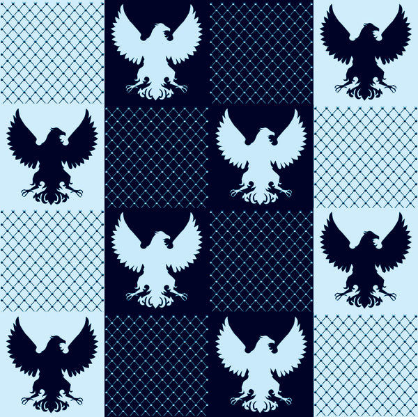 Patriotic Fabric,  Eagles, Navy Colored, Cotton or Fleece 7147 - Beautiful Quilt