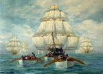 Boat Fabric, Constitution Clipper Ship Fabric Panel,1666 - Beautiful Quilt