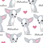 Dog Fabric, Chihuahua Fabric, Cotton or Fleece 703 - Beautiful Quilt