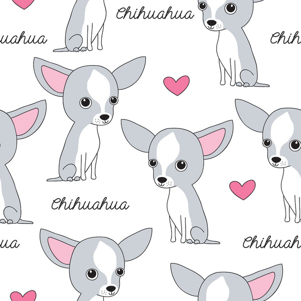 Dog Fabric, Chihuahua Fabric 703