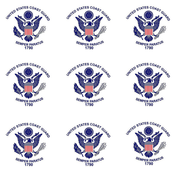 Military Fabric, Coast Guard Fabric, Logo, Yardage, Cotton or Fleece 1180