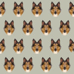 Dog Fabric, Collie Fabric, Collie Head, Cotton or Fleece 1323 - Beautiful Quilt