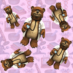 Medical Fabric, Teddy Bear Doctors on Pink, Cotton, Fleece or Canvas 2239 - Beautiful Quilt