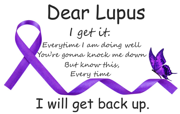 Lupus Awareness Ribbon Fabric 1507