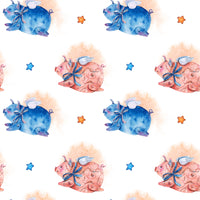 Pig Fabric, Cutest Pigs Ever Fabric, Cotton or Fleece 3301 - Beautiful Quilt