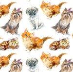 Dog Fabric, Cat Fabric, Dogs and Cats 1333 - Beautiful Quilt
