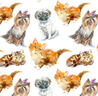 Dog Fabric, Cat Fabric, Dogs and Cats, Cotton or Fleece 1333 - Beautiful Quilt