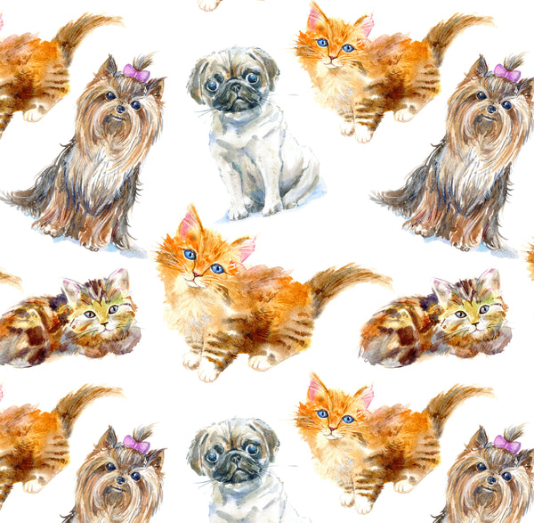 Dog Fabric, Cat Fabric, Dogs and Cats 1333