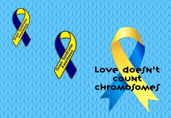 Awareness Ribbon Fabric, Down Syndrome 708 - Beautiful Quilt