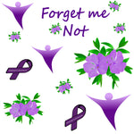 Awareness Fabric, Alzheimer's Awareness Fabric, Cotton or Fleece 1008 - Beautiful Quilt