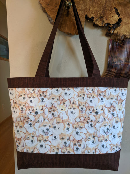Dog Fabric, Corgi Tote Bag, Sample,  2120 - Beautiful Quilt