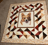 Sample Corgi Quilt, Not for Sale, 2400 - Beautiful Quilt