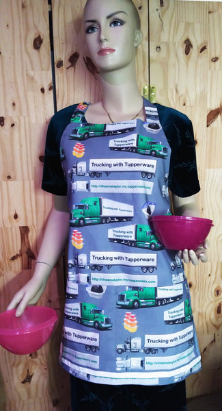 Gallery Fabric, Apron, Trucking with Tupperware 3780, Not for Sale - Beautiful Quilt