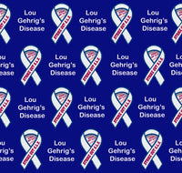 Lou Gehrig's Disease Fabric, aka ALS or Amyotrophic Lateral Sclerosis Fabric, Cotton or Fleece 1801 - Beautiful Quilt