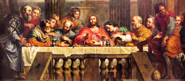 Religious Fabric, The Last Supper by Jan Erasmus Quellinus (1634-1715) 10425 - Beautiful Quilt