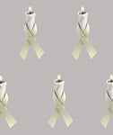 Mesothelioma Awareness Ribbon Fabric, Cotton or Fleece 789 - Beautiful Quilt