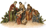 Religious Fabric, Christmas Fabric, Nativity Fabric Panel 636