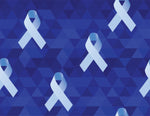 Cancer Fabric, Prostate Cancer Fabric, Light Blue on Blue 738 - Beautiful Quilt