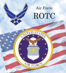 Military Fabric, Air Force ROTC Fabric Panel, 2185 - Beautiful Quilt