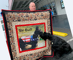"Dog Fabric, Schnauzer Quilt, ""Sir Buff"", Not for Sale, Sample 2233 - Beautiful Quilt"