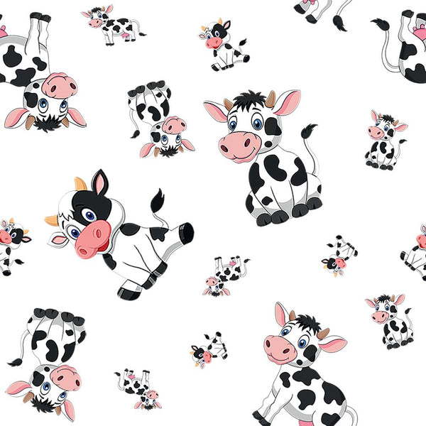 Children's Fabric Cartoon Cows, Cotton or Fleece 10015 - Beautiful Quilt